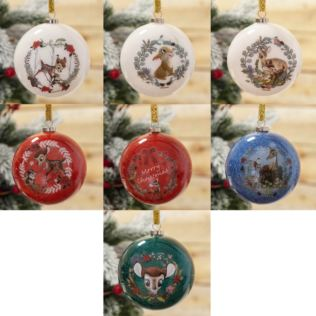 Disney Bambi Enchanted Forest Set of 7 Glitter Baubles Product Image