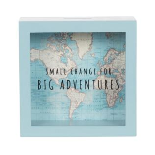 Vintage Map Big Adventures Money Box Product Image