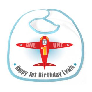 Personalised Childrens Aeroplane Bib Product Image