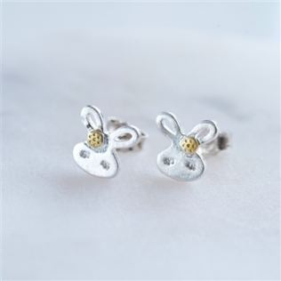 Cute Bunny Sterling Silver Earrings Product Image