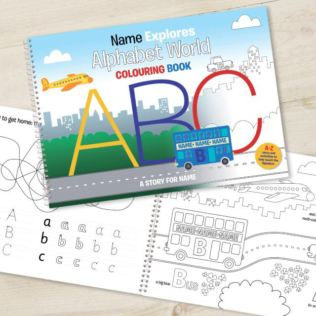 Alphabet World Personalised Colouring Book Product Image
