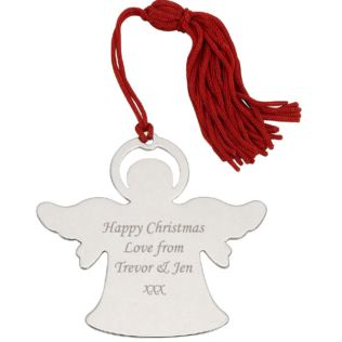 Engraved Angel Hanging Ornament Product Image
