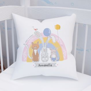 Personalised Animal Friends Cushion Product Image