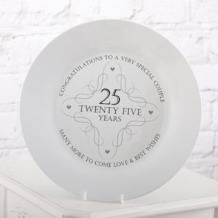 25th Anniversary Plate Product Image