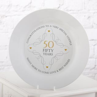 50th Anniversary Plate Product Image