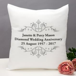 Personalised Diamond Anniversary Cushion Product Image