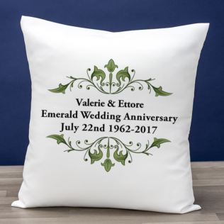 Personalised Emerald Anniversary Cushion Product Image