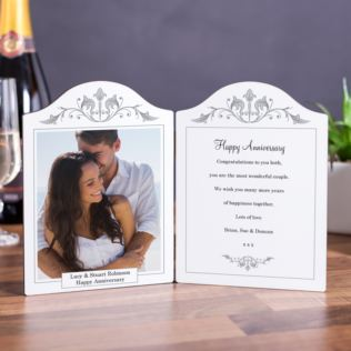 Wedding Anniversary Photo Message Plaque Product Image