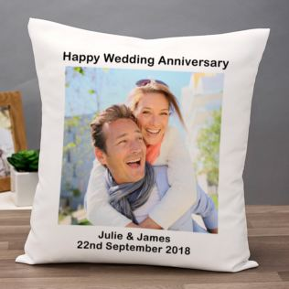 Personalised Photo Anniversary Cushion Product Image