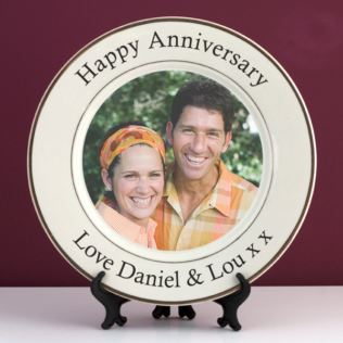 Personalised Wedding Anniversary Photo Plate Product Image