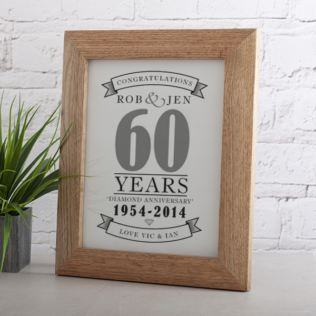 Personalised Diamond Anniversary Print Product Image