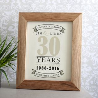 Personalised Pearl Anniversary Print Product Image
