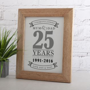 Personalised Silver Anniversary Print Product Image