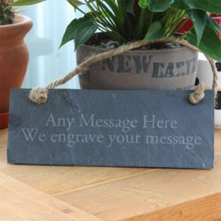 Personalised Slate Rectangle Plaque Product Image