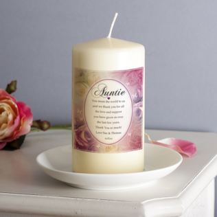 Personalised Floral Design Auntie Candle Product Image