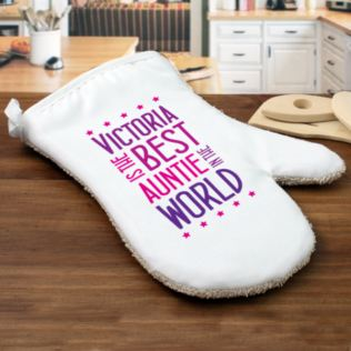 Best Auntie In The World Personalised Oven Glove Product Image