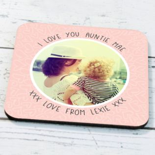 Personalised Photo Upload Auntie Coaster Product Image