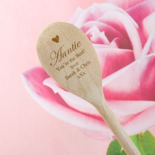 Auntie Personalised Wooden Spoon Product Image