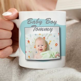 Personalised Baby Boy Photo Mug Product Image