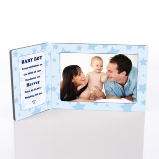 Baby Boy Photo Message Plaque Product Image