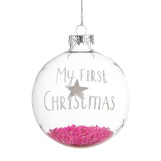 Baby Girl First Christmas Bauble Product Image