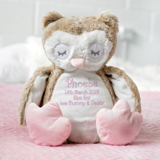 Baby Girl Embroidered Cuddly Owl Product Image
