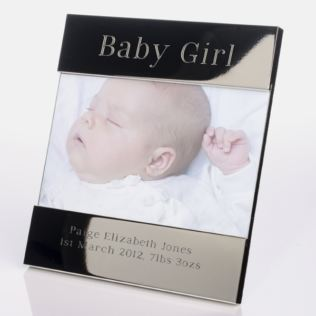Engraved Baby Girl Photo Frame Product Image
