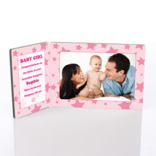 Baby Girl Photo Message Plaque Product Image