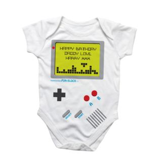 Personalised Game Baby Grow Product Image