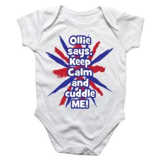 Personalised Keep Calm Baby Grow Product Image