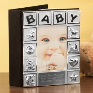 Personalised Silver Plated Baby Album Product Image