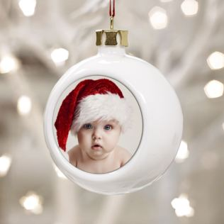 Personalised Baby Photo Bauble Product Image