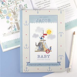Personalised Baby Record Book for a Boy Product Image