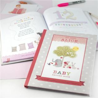 Personalised Baby Record Book for a Girl Product Image