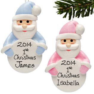 Baby's First Christmas Personalised Hanging Ornament Product Image