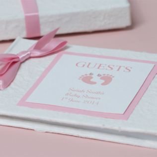 Personalised Baby Shower Guest Book Product Image
