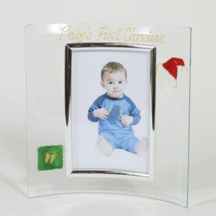 Baby First Christmas Glass Frame Product Image
