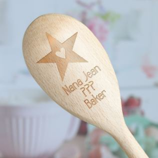Personalised Baker Wooden Spoon Product Image