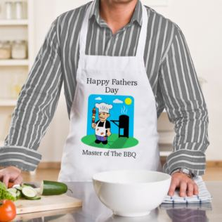 Fathers Day Master Of The BBQ Apron Product Image