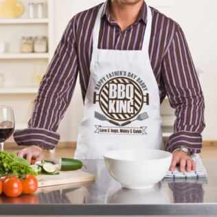 Personalised BBQ King Apron Product Image
