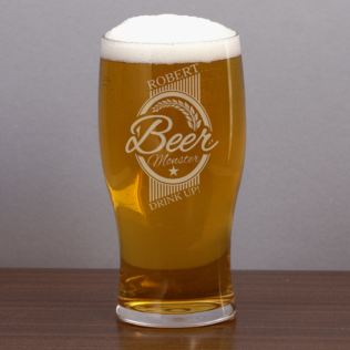 Personalised Beer Monster Pint Glass Product Image