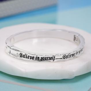 Believe in Yourself Bangle in Personalised Box Product Image