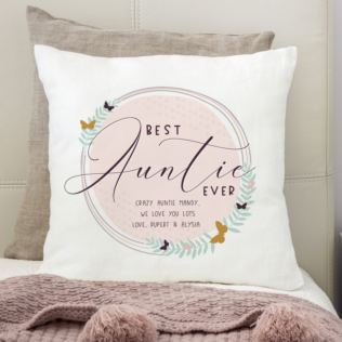 Personalised Best Auntie Ever Cushion Product Image