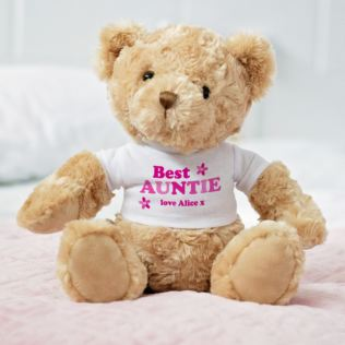 Personalised Best Auntie Teddy Bear Product Image