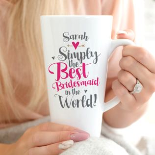 Personalised Bridesmaid Latte Mug Product Image