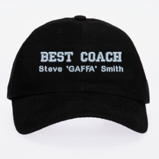 Personalised Embroidered Best Coach Cap Product Image