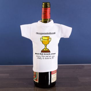 Best Dad Personalised Wine Bottle T-Shirt Product Image