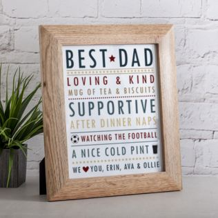 Personalised Father's Day Framed Print Product Image