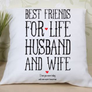 Personalised Best Friends for Life Husband and Wife Cushion Product Image