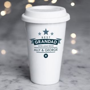 Personalised Best Grandad Ceramic Travel Mug Product Image